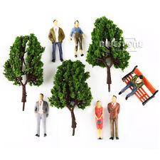 16 Multi Scale Model Trees 100 People Figures 5 Bench Train Diorama Scenery O