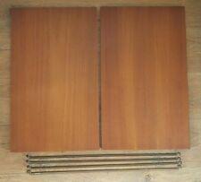 2 VINTAGE LADDERAX TEAK SHELVES & 4 SUPPORT BARS ~ DISPLAY MAGAZINE 59 x 35.5 cm