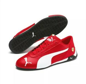 NEW Men's Puma Scuderia Ferrari R-Cat Motorsport Shoes Black & Red