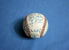 1989 New York Yankees team autographed baseball 15 signatures Mattingly/Winfield