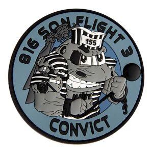 "RAN 816 SQN Flight 3 ""Convict"" MH-60R Aircrew PVC Patch - 95mm - New"