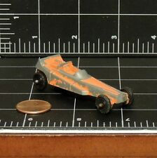 """Tootsie Toy Dragster Wedge car Vintage 2.5"""" Diecast played worn Patina made Usa"""