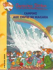 GERONIMO STILTON 52 Camping aux chutes du Niagara livre jeunesse