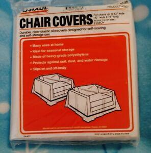 "U-Haul Clear Chair Covers Set Of 2 (42""w X 76""l)"