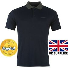 Donnay Men Polo T Shirt Smart Contrast Collar UK Size Medium Navy 2017 New