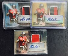 Lot of 3 Mike Glennon 2013 Bowman Sterling Gold Refractor Auto Patch RC s