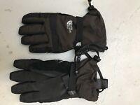 The North Face Rugged HyVent Long Gauntlet Gloves Ski Hiking Mens Medium Brown