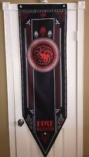 """Game of Thrones XL Tournament Banner (House Targaryen) 5'-2"""" SHIPS IN ONE DAY!"""