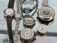 JOBLOT SILVER  WATCHES TRENCH WATCHES LADIES  WATCH OMEGA SPARES OR REPAIRS