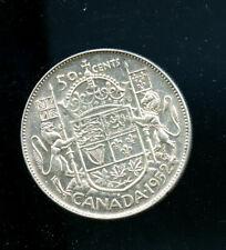 1952 Canada silver 50 Cents AU A157