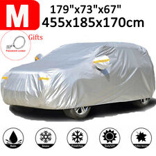 Car Cover Breathable Waterproof Layers Outdoor Indoor Snow Protection Shield M