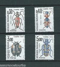 TIMBRES TAXE - 1983 YT 109 à 112 - TIMBRES NEUFS** LUXE