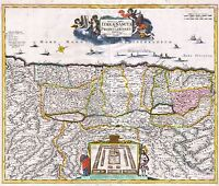 MAP ANTIQUE 1720 FUNCK PALESTINE OLD HISTORIC LARGE REPLICA POSTER PRINT PAM0187
