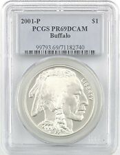 2001 P&D PCGS PR69DCAM Buffalo $1 Set