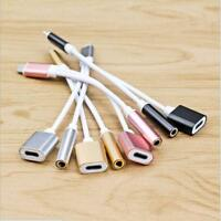 For iPhone 7 Plus iOS10.2 Earphone Headphone Jack Adapter Cable Wire USB Charger