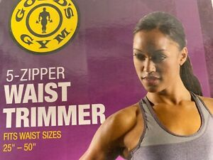 "Golds Gym Plus Adjustable Waist Trimmer 5 Zipper Closures Fits 25"" to 55"""