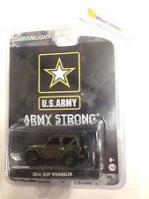 Greenlight * U.S. Army 201 Jeep Wrangler * DARK GREEN w/ Soft top * Hobby * Y11
