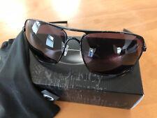 "Oakley Brand New Never Used ""Plaintiff"" Squared Polished Black Frame & Grey Lens"