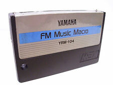 Yamaha MSX FM Music Macro YRM-104 Cartridge for Vintage Computer System