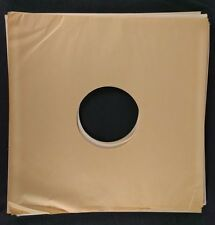 "LOT OF 10 vintage blank 12"" LP album PAPER SLEEVES -- square corners center hole"