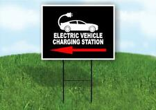 Electric Vehicle Charging Yard Sign Road With Stand Lawn Sign Single Sided
