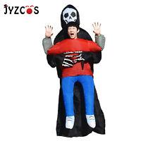 Inflatable Ghost Costume Skeleton Devil Halloween Party Cosplay Dress Kid Adult
