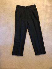 Nino Cerruti Men's Dress Slacks Pants 100% Worsted Wool Charcoal Gray 33 x 32