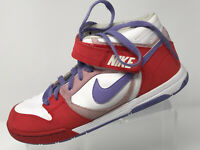 info for b880a aa85b Nike Air Mens size 11 Red Purple White High Top Basketball Athletic Tennis  Shoes