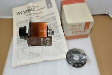 NEW GENERAL RADIO TYPE W2 VARIAC VARIABLE TRANSFORMER with Box NOS