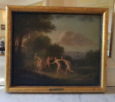 French Antique Old Master Painting Attrib. Jacques Antoine Vallin, 18th Century