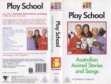 ABC PLAY SCHOOL AUSTRALIAN ANIMAL STORIES VHS PAL VIDEO~ A RARE FIND