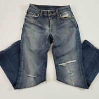 7 For All Mankind Mens Denim Jeans Bootcut Distressed Medium Wash Size 29