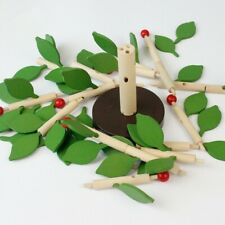 Wooden Tree Puzzle Toy Assemble Leaves Inserted Educational Toy Montessori