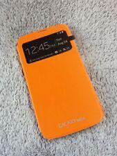 Samsung Galaxy Mega 6.3 S-VIEW FLIP COVER orange Schutzhülle i9200 smart case