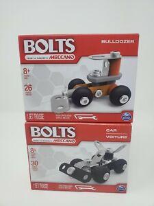 Bolts Meccano Bulldozer & Car Lot New Sealed
