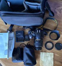 Nikon D3200 24.2 MP Digital SLR Camera with 18-55mm and 55-200mm Lens Kit Bundle