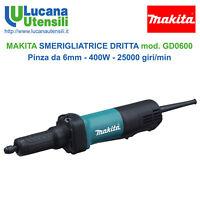 MAKITA SMERIGLIATRICE DRITTA modello GD0600 6mm 400W 25000g/min - Professionale