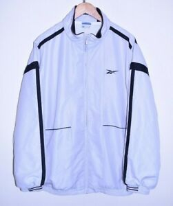 vtg 90s REEBOK OLDSCHOOL CLASSIC RETRO TRACK JACKET TRACKSUIT TOP CASUALS XXL