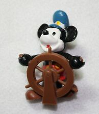 """1986 Walt Disney Applause Steamboat Willie Mickey Mouse 2.5"""" Pvc Figure"""