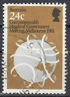Australien Briefmarke gestempelt 24c Commonwealth Meeting Melbourne 1981 / 44