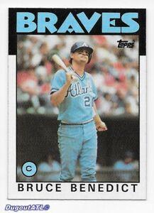 ⚾️ 1986 ~ Topps #78 ~ Bruce Benedict ~ Braves ~ Ex=5