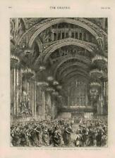 1873-antiguo Shah Persia Irán Impresión Londres Guildhall Bola visita (171)