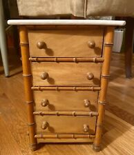 Antique French Faux Bamboo Tallboy Doll Dresser w/4 Drawers - Late 19th Century