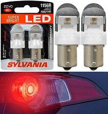 Sylvania ZEVO LED Light 1156 Red Two Bulbs Stop Brake Rear Replace Upgrade Lamp