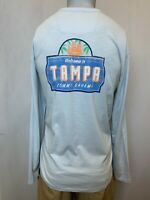 "New Tommy Bahama Men's ""Tampa Bay"" Long Sleeve Lux T-Shirt, Light Blue, L"