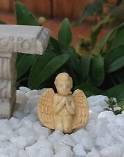 Miniature Dollhouse Fairy Garden Accessories ~ Tiny Tan Praying Cherub Angel