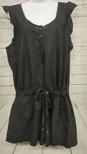 Victoria's Secret VS Black Shorts Romper Size L