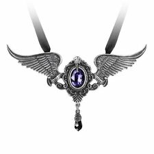 Alchemy Gothic Poe's Raven My Soul From The Shadow Swarovski Pewter Pendant