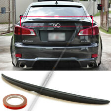 For 06-12 IS250 IS350 OE Style Unpainted ABS Rear Trunk Wing Spoiler Add On