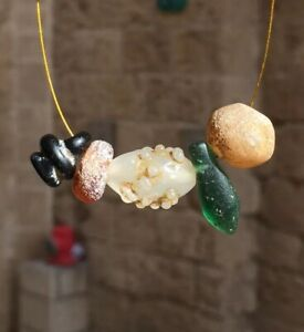 ANCIENT GLASS BEAD PENDANT Antique Beads Bead Collection LOT